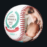 """Happy Father's Day Custom Family Photos Baseball<br><div class=""""desc"""">This Personalized """"Happy Father's Day Family Photo Collage Baseball"""" is a perfect gift for dad. It makes an excellent gift to bring lasting memories of this special day!</div>"""