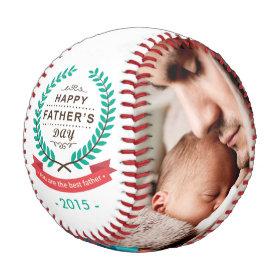 Happy Father's Day Custom Family Photos Baseballs