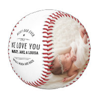 Happy Father's Day Custom Photo Baseball