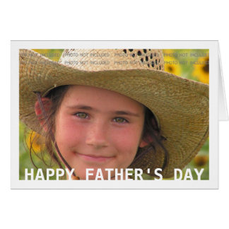 Happy Father's Day Custom Photo Simple Design Card