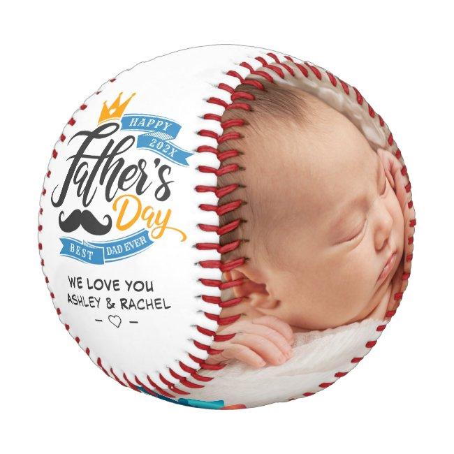 Happy Father's Day Custom Photos Baseball