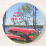 Happy Father's Day Dad Beverage Coaster