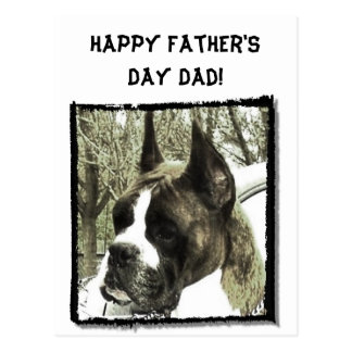 Happy Father's Day Dad Boxer greeting card Postcard