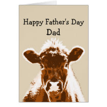 Happy Father's Day Dad Cow Joke Humor Card
