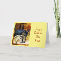 Happy Father's Day Dad Father Horse Equestrian Card