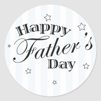 Happy Father's Day Dad Gift Idea Classic Round Sticker