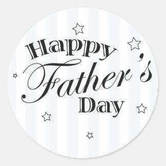 Happy Father's Day Dad Gift Idea Classic Round Sticker