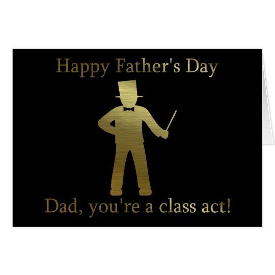 Happy Father's Day Dad in suit, classy Dad. Card