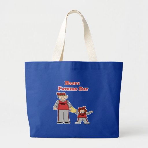 Happy Father's Day (daddy and me baseball) Jumbo Tote Bag