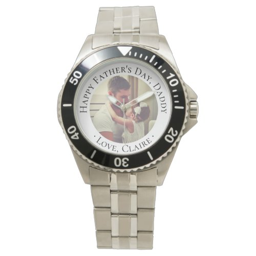 Happy Father's Day Daddy Custom Photo Gift Wrist Watch