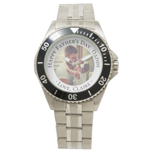Happy Father's Day Daddy Custom Photo Gift Wrist Watch