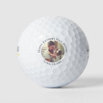 Happy Father's Day Daddy Photo Golf Balls