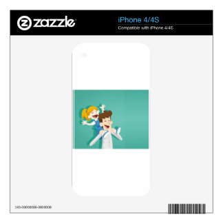 Happy Fathers Day, Decal For iPhone 4