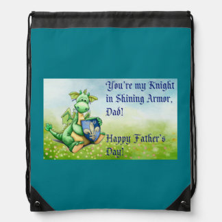 Happy fathers day drawstring bag