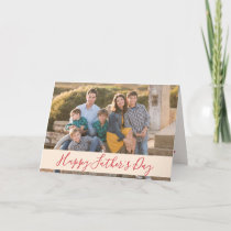 Happy Fathers Day Family Photo Card