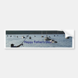 Happy Father's Day, fisherman Bumper Sticker