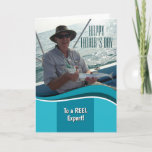 Happy Father's Day Fisherman Personalized Card