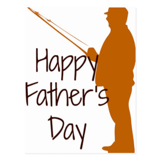 Happy Father's Day Fisherman Postcard