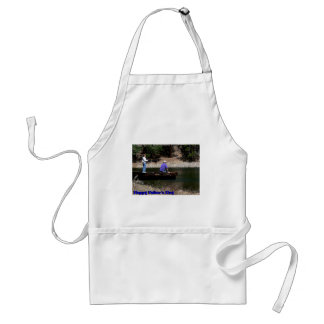 Happy Fathers Day Fishing Adult Apron
