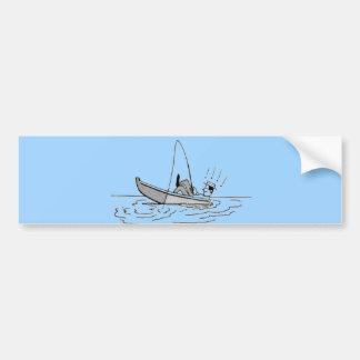 Happy Father's Day - Fishing Boat Bumper Sticker