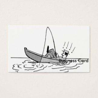 Happy Father's Day - Fishing Boat Business Card