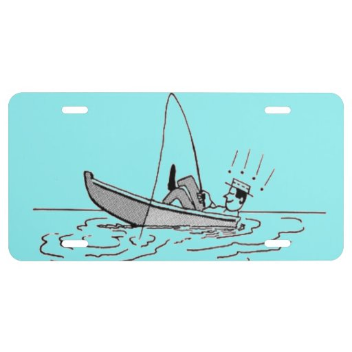 Happy father 39 s day fishing boat license plate zazzle for How much is a one day fishing license