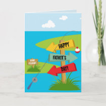 Happy Father's Day Fishing Card