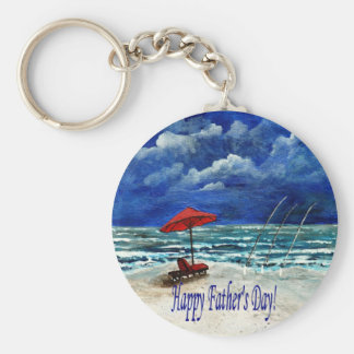 Happy Father's Day Fishing Gifts Basic Round Button Keychain