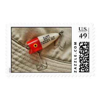 Happy Father's Day Fishing Lure Design Postage
