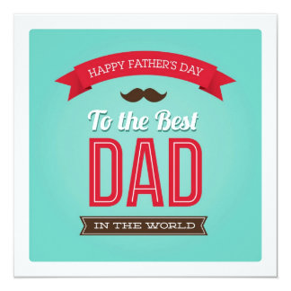 Happy Father's Day Flat Card