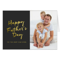 Happy Father's Day Folded Photo Card | Black