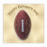 Happy Father's Day Football On Gold Background Acrylic Cut Outs