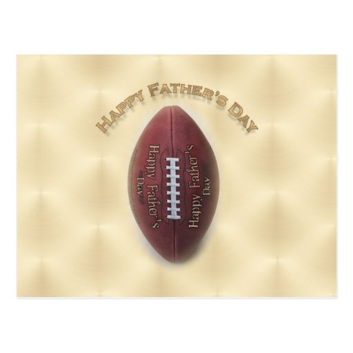 Happy Father's Day Football On Gold Background Postcards