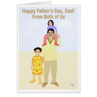 Happy Father's Day From Both of Us Greeting Card