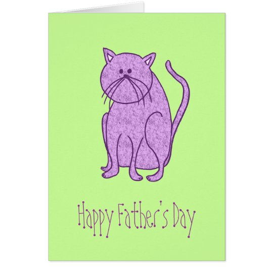 Happy Father's Day From Cat Card