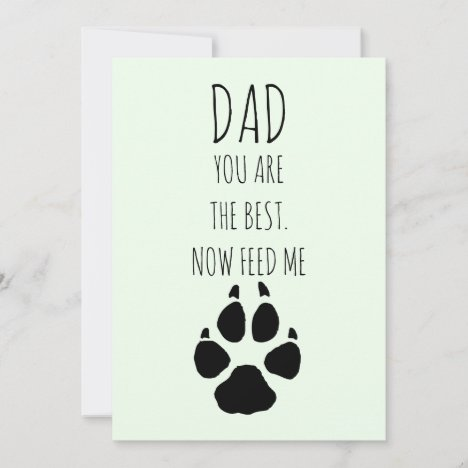 Happy Fathers Day From Dog Holiday Card