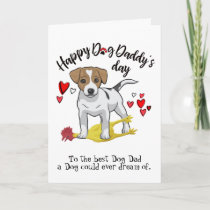 Happy Father's Day from Jack Russell Terrier  Card