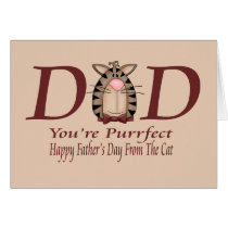 Happy Fathers Day From The Cat Card