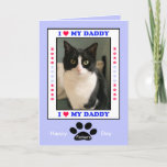 Happy Father's Day from the Cat -- Your Photo Card