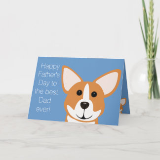 Happy Father's Day from The Fur Kid Corgi Card
