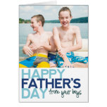 Happy Father's Day from your Boys! Greeting Card