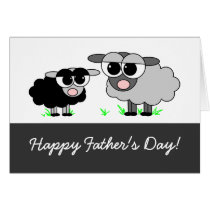Happy Father's Day! From Your Little Black Sheep Card