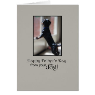 Happy Father's Day From Your Little Dog Greeting Card