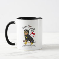 Happy Father's Day from your Loving Rottweiler Mug