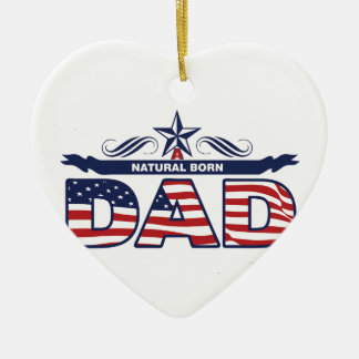 Happy Father's Day Gifts Ceramic Ornament