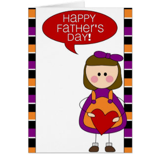 happy father's day (girl) card