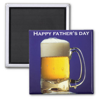 Happy Fathers Day Glass of Beer Fridge Magnet