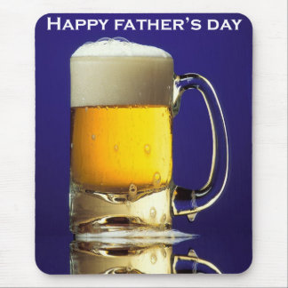 Happy Fathers Day Glass of Beer Mouse Pad