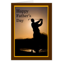 Happy Fathers Day Golf Card