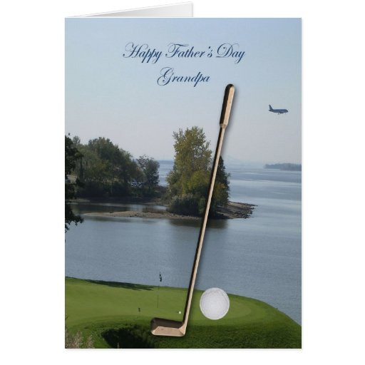 Happy Father's Day Golf Grandpa Card - Customized
